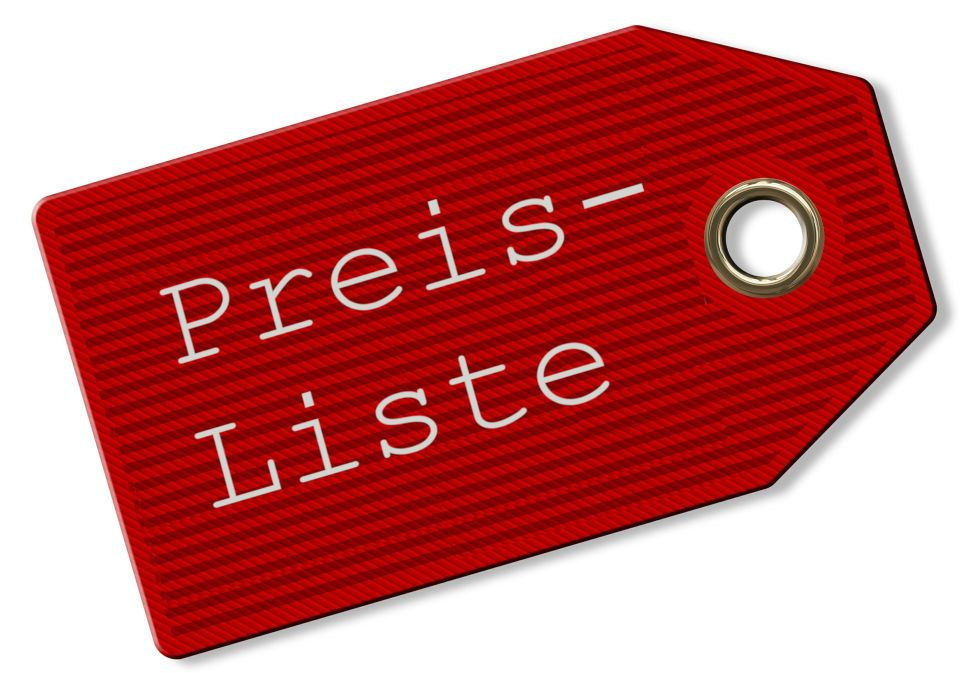 Preisliste Label